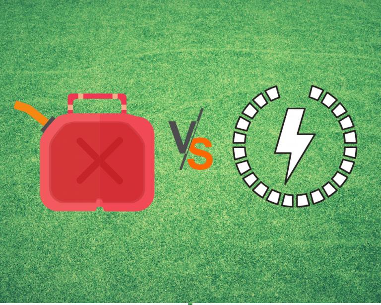 gas vs electric lawn equipment