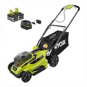 ryobi 18v 16inch battery powered lawn mower