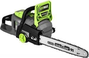 earthwise 56v cordless electric chainsaw