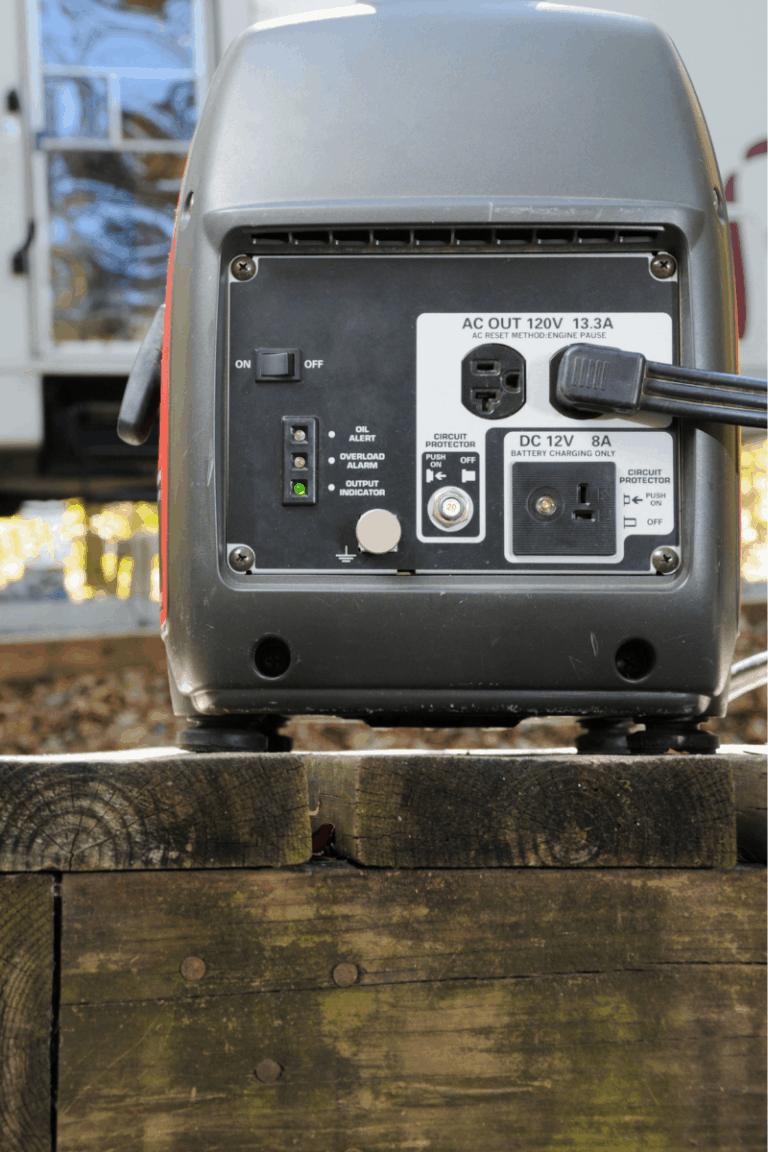 generator powering camper