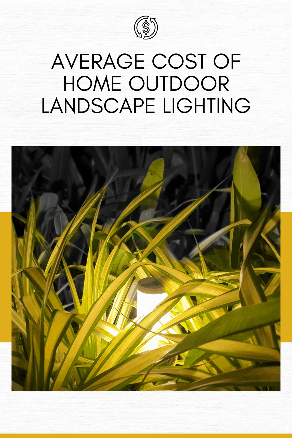 average cost of home outdoor landscape lighting landscape light in bush