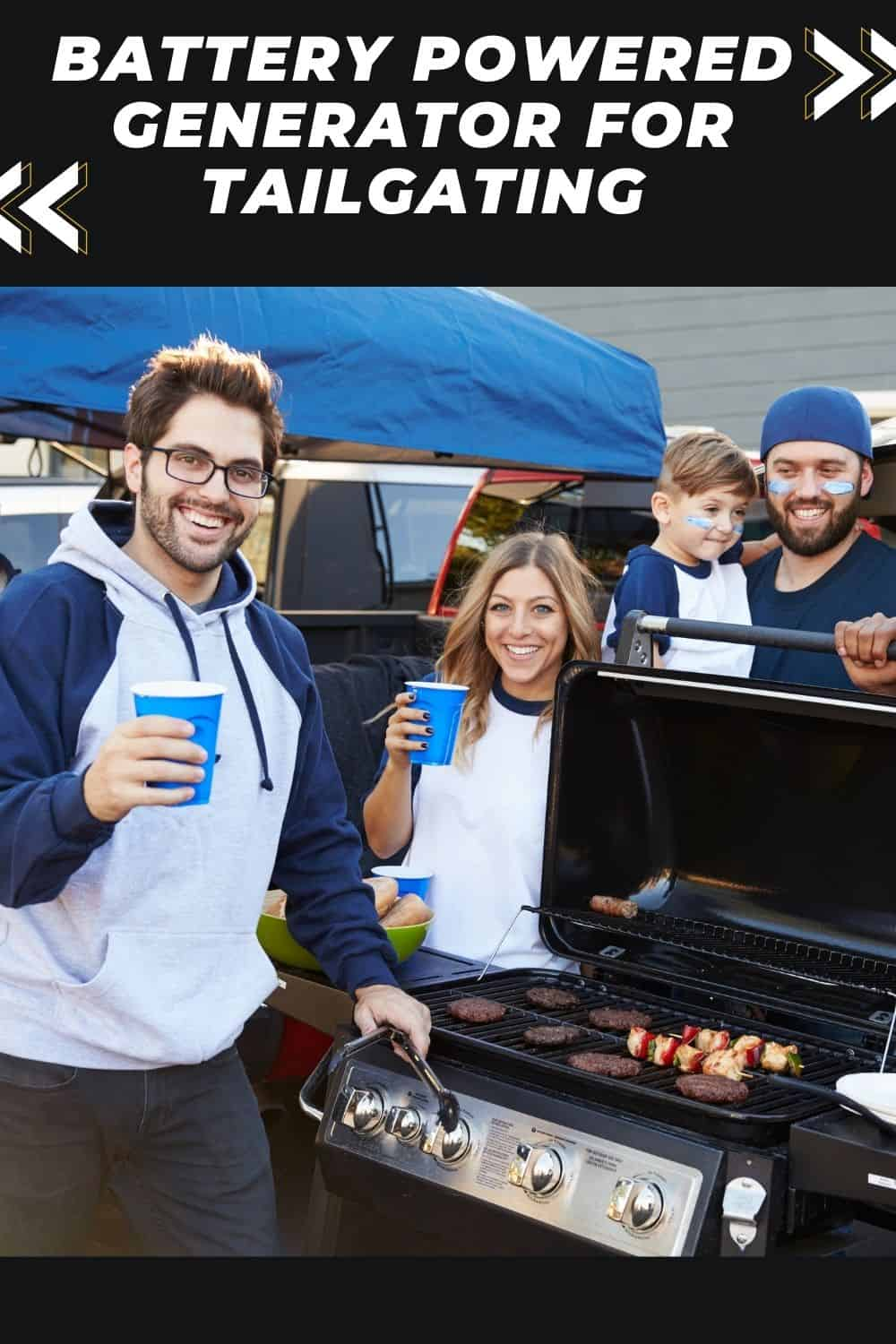 battery powered generator for tailgating