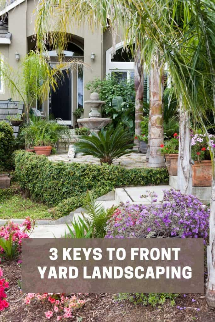 keys to front yard landscaping with landscape front entry way to home