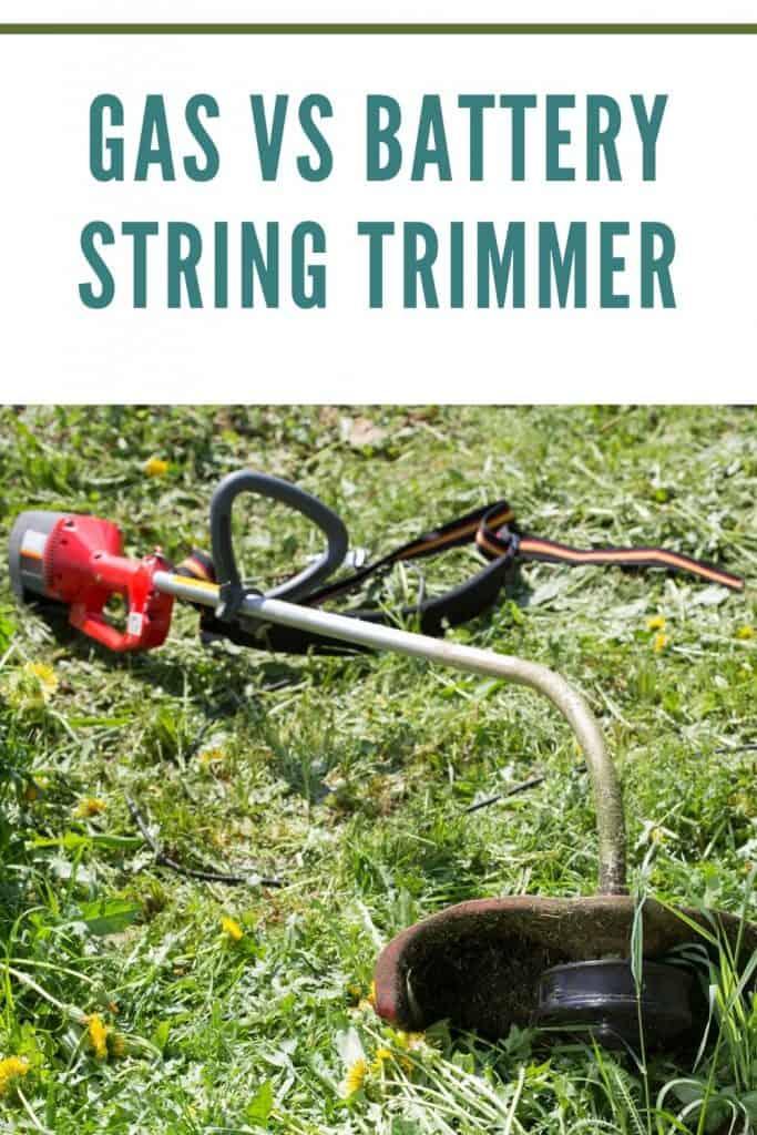 gas vs battery string trimmer